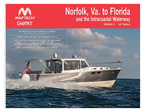 Norfolk, VA, to Florida and the Intracoastal Waterway ChartKit Region 6 14th - Chart Maptech