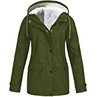 Wanshop - Chubasquero con capucha para mujer, ligero, impermeable, para exteriores, cortavientos, todo tipo de clima…