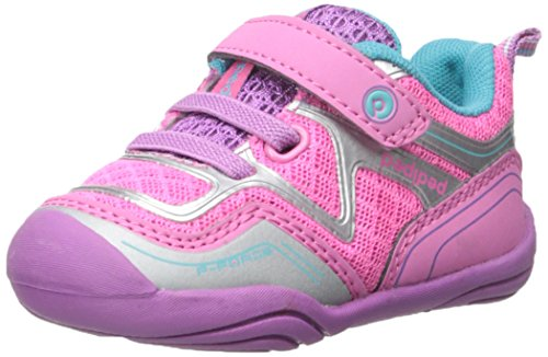 pediped Grip Force Athletic Shoe (Toddler), Pink/Silver, 22 EU(6-6.5 E US Toddler)