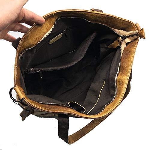 Disponible Mensajero black Cremallera Vintage Gran Sm De Bolso amp;m Bolsas Bolsos diseño Tapa Cuero La Bandolera Brass Mujer Hombro Tote UnTPaq