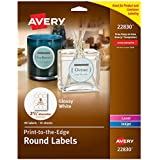 "Avery Round Labels for Laser & Inkjet Printers, 2.5"", 135 Glossy White Labels (44830)"