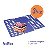 Foldplex Flipfold Shirt Folder Tshirt Folder Folding Board - Blue by Foldplex