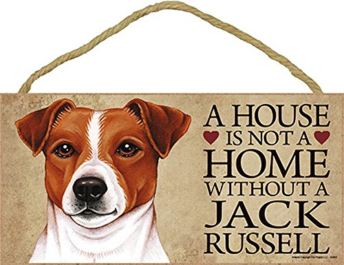 Jack Russell Terrier Wood Dog Sign Wall Plaque Photo Display A House Is Not A Ho + Bonus Coaster ()