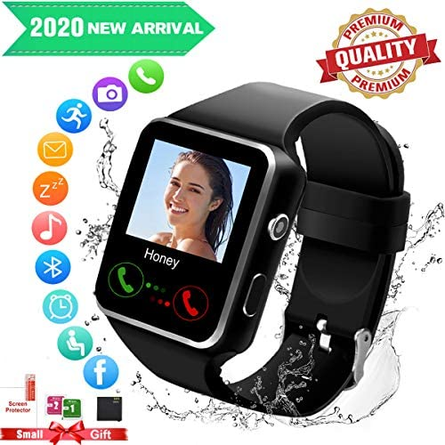 Smart Watch for Android Phones,Smartwatch for Men Women,Smart Watches with Camera Bluetooth Watch with SIM Card Slot Cell Phone Watch Smartwatch for Android Samsung Phone iOS XS X8 10 11 513ypzol48L