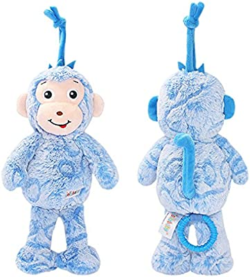 No original packaging monkey Amazemarket by Soothing Appease Music Box Pull String Hanging Toy Plush Musical Stuffed Animal Playmate Sweet Songs Bell Bed Stroller Pram Pushchair Kids Gift