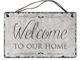 Welcome to our Home Handcrafted Slate House Sign ideal wedding or house warming gift. Beautiful kitchen wall décor rustic home sweet home available in 2 sizes 16