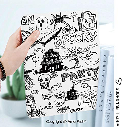 Slim Shell Case for Samsung Galaxy Tab A 8.0 2017 Model T380/T385,Vintage Halloween Hand Drawn Halloween Doodle Trick or Treat Knife Party Severed Hand Decorative]()