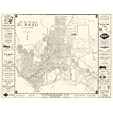 Historic City Maps - EL PASO TEXAS (TX) BY WESTERN MAP CO 1938 - Glossy Satin Paper