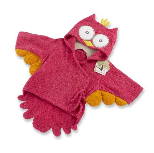 Bébé Aspen My Little Night Owl capuche Terry Spa Robe, Rose