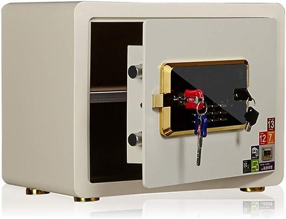 DBSCD Cajas Fuertes para el hogar Pantalla LCD Alarma electrónica Caja Fuerte 38 * 30 * 30 cm Caja Fuerte (Blanco): Amazon.es: Hogar