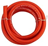 Rockville R4G5R Red 4 AWG Gauge 5 Foot Car Amp Ground Wire