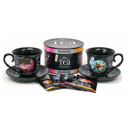 Disney World Parks Exclusive Alice Wonderland Tea Cup & Saucer Variety Tea Gift Set - NEW Disney Theme Parks AGS-1