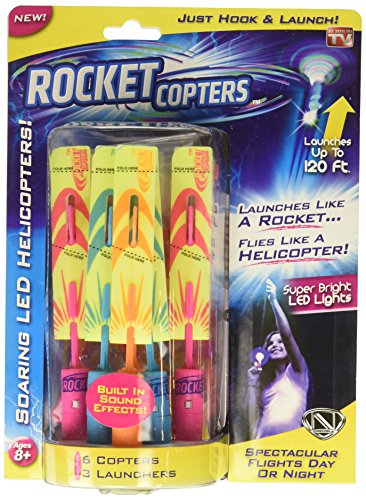 Rocket Copters - The Amazing Slingshot LED Helicopters -
