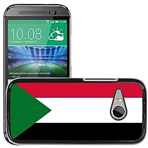 GoGoMobile Slim Protector Hard Shell Cover Case // V00001155 sudan National Country Flag // HTC One Mini 2 / M8 MINI / (Not Fits M8)