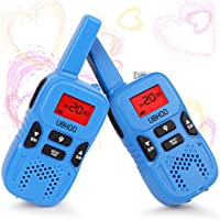 Walkie Talkies for Kids, UOKOO 22 Channel FRS/GMRS 2 Way Radio (up to 3.7 Miles) UHF Hand-held Kids Walkie Talkies with Back-lit LCD Screen, Toys for Boys and Girls as Christmas Gift( Blue)