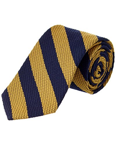 Brooks Brothers Mens Yellow Striped Wool-Silk Blend Tie, Os Brooks Brothers Striped Tie