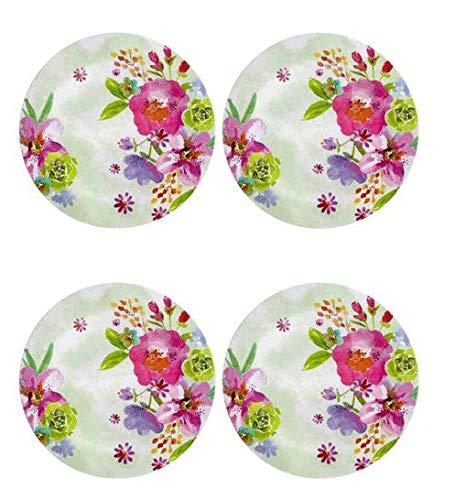 (Northeast Home Goods Watercolor Flowers Heavyweight Melamine Dinnerware (10.5