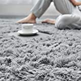 Light Grey Super Soft Area Rug for