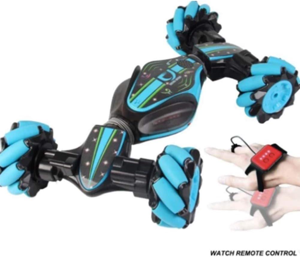 Gizayen RC Coche,Coche Teledirigido 2.4GHz Stunt RC Car, Doble Lado Rotación de 360 Grados de Alta Velocidad Juguetes Fancy Stunt Car con Todas, Niños Adultos