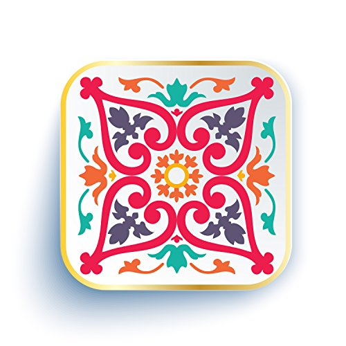 Ankit Moroccan Ceramic Jewelry Tray 5  X 5  Organizer For Home Decor With Colorful Red Blue Green Water Colors And Tribal Tropical Design Moroccan Jewelry Organizer Tray Stand Ring Holder Dish Keys