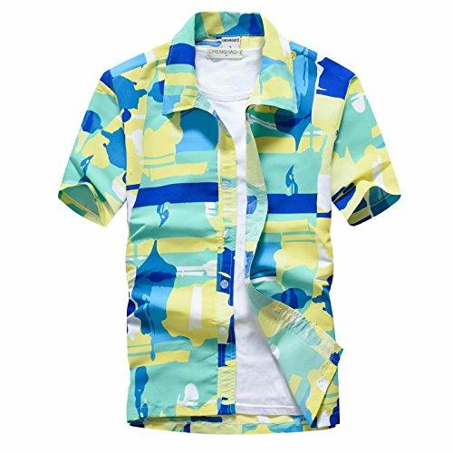 興奮ご意見つまずくFollowDream アロハシャツ 夏 半袖シャツ ビーチシャツ おしゃれ 通気性 メンズ レディース ユニセックス かりゆしウェア ハイビスカス プルメリア 花柄 沖縄 ハワイ