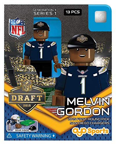 San Chargers Diego Uniform (Melvin Gordon OYO NFL San Diego Chargers G3 Series 1 2015 Draft Pick Mini Figure Limited Edition)