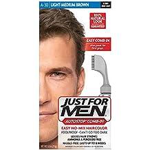 AutoStop Men's Hair Color, Light Medium Brown
