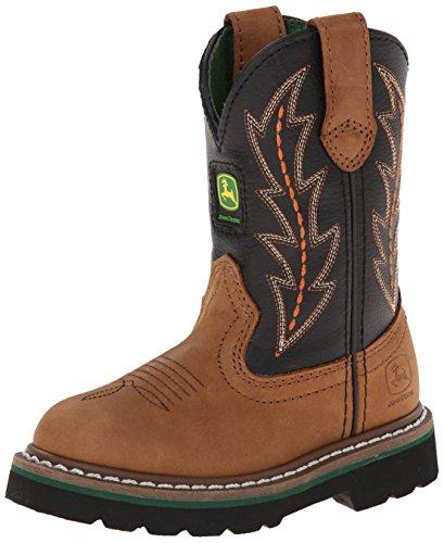 John Deere 2190 Western Boot (Toddler/Little Kid),You Tan Black Top Pull ON,2 M US Little Kid