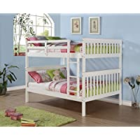 Donco Kids 689497 Full Mission Bunkbed Roll Out Twin Trundle, White