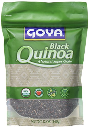 Goya Foods Organic Black Quinoa, 12 Ounce (pack of 12) by Goya