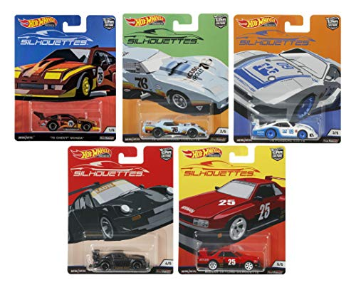 Hot Wheels Car Culture 2019 Silhouettes Set of 5, 1/64 Scale Diecast ()