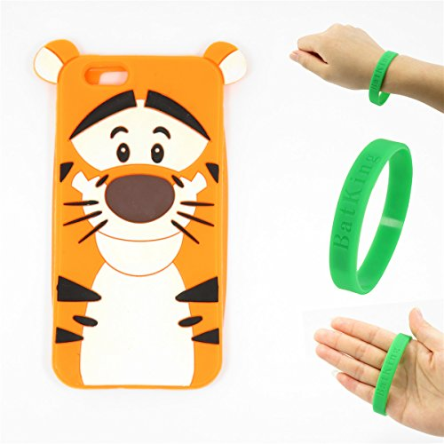 6S Case,iPhone 6 Case,iPhone 6S Tigger Silicone Case,Bat King Cute 3D Cartoon Tigger Tiger Silicon Gel Rubber Back Cover Case Skin for Apple iPhone 6/6S 4.7 inch(Tigger)]()