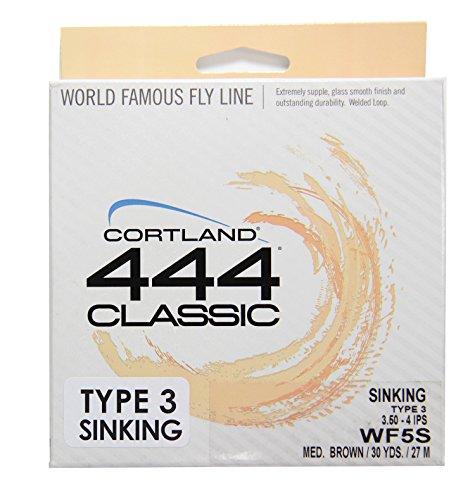 Cortland Line WF5/S Full Sinking Fishing Line, Brown