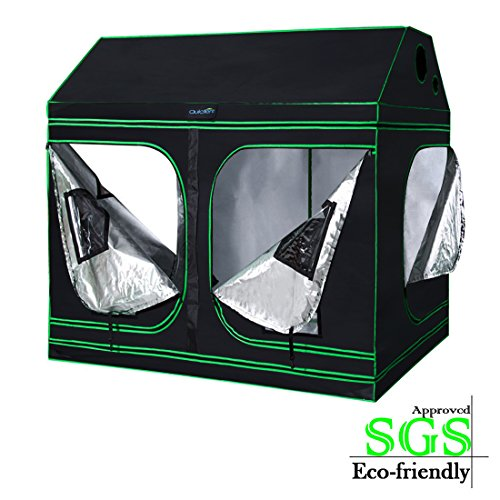 $179.99 best indoor grow tent Quictent SGS Approved Eco-Friendly 96″x48″x71″ Reflective Mylar Hydroponic Roof Cube Grow Tent with Obeservation Window and Waterproof Floor Tray for Indoor Plant Growing 2019