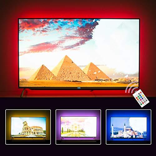 Hamlite TV Backlight 55 Inch TV Bias Lighting LED TV Light Strip for 55 Inch TV Mood Lighting, 11.5 Feet Customized to Cover 4/4 Sides of 50-55