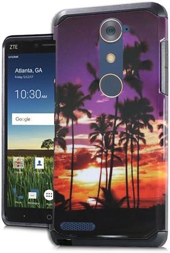 ZTE Blade X MAX (Cricket Wireless), Funda para teléfono Walmart Family Mobile ZTE ZMAX Pro/ZTE ZMax Pro, Carcasa rígida de Goma de Doble Capa + Protector de Pantalla: Amazon.es: Electrónica