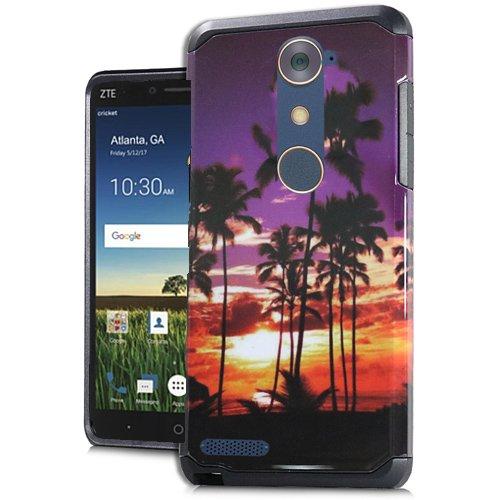 ZTE Blade X Max (Cricket Wireless) Case, Phone case for Walmart Family Mobile ZTE ZMAX PRO/ZTE ZMax Pro Case, Rubberized Hard Dual Layer Cover Case (California Sunset)