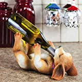 Cypress Polystone Dog Wine Bottle Holder, Life with a Dog