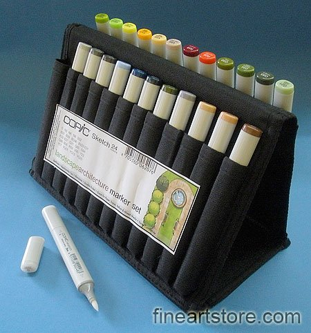 Copic Markers Sketch Landscape Arch Sketch Wallet by Copic Marker