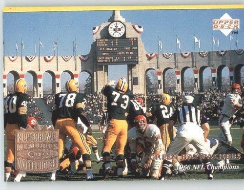 (1997 Upper Deck Legends Football Card # 179 Packers Superbowl SM - Green Bay Packers (Kansas City Chiefs on back) (Super Bowl Memories) - NFL Trading Card)