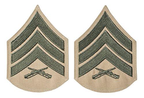USMC Green on Khaki Chevron, Male (Sgt)