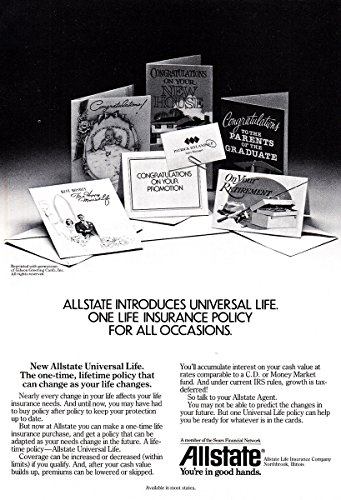 1983 Allstate Insurance  Universal Life  Allstate Insurance Print Ad