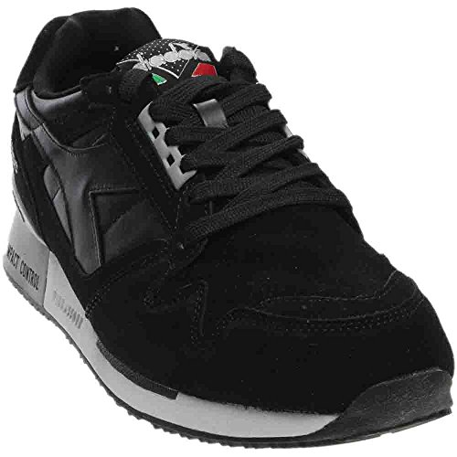 Diadora Unisex I.C. 4000 Premium Black/Silver Athletic Shoe
