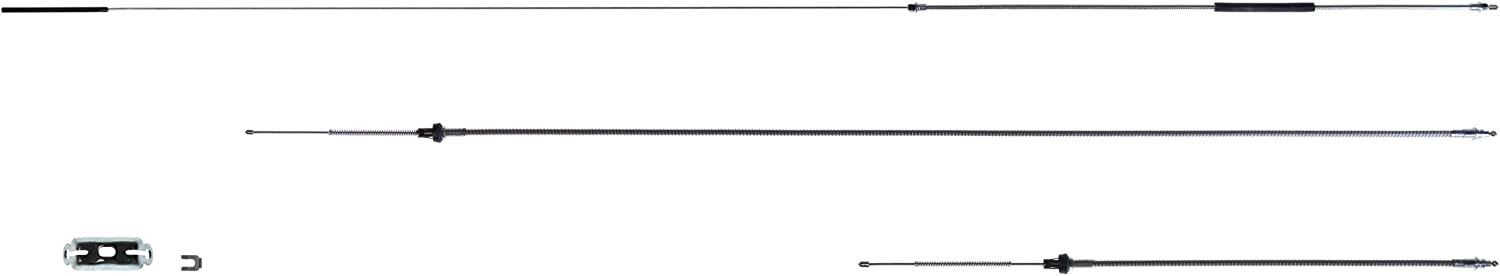 The Right Stuff RSBCH01S Stainless Emergency Brake Cable Set with Hardware
