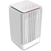 Portable Space Heater, 950W Electric Ceramic Heater with Warm & Cool Fan, 5 Inch Personal Heater with Widespread Oscillation, Overheating & Tip-Over Protection for Desk Floor Office Home Use (white)