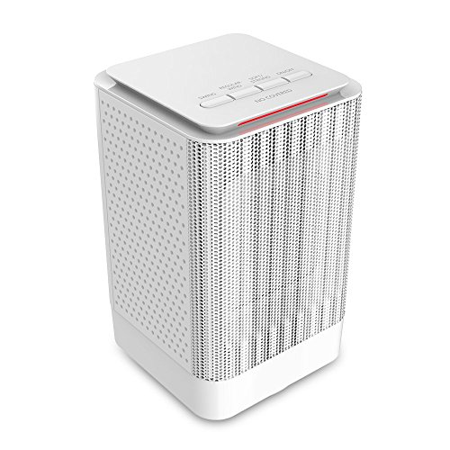 Portable Space Heater, 950W Electric Ceramic Heater with Warm & Cool Fan, 5 Inch Personal Heater with Widespread Oscillation, Overheating & Tip-Over Protection for Desk Floor Office Home Use (white) Ceramic Heaters GEEK