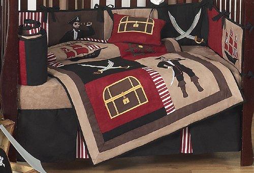 amazon sweet designs treasure cove pirate red black ship baby boy bedding crib set childrens sets bedroom furniture