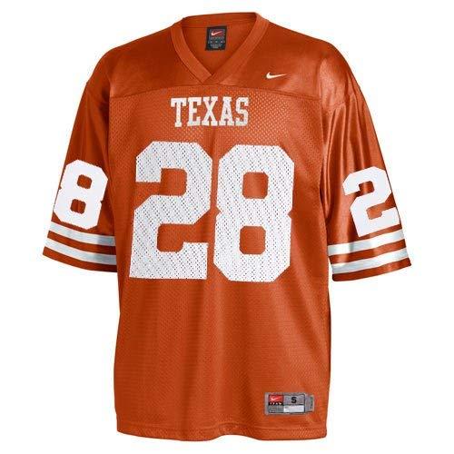 NIKE Texas Longhorns #28 Replica Football Jersey - Burnt Orange (Medium)