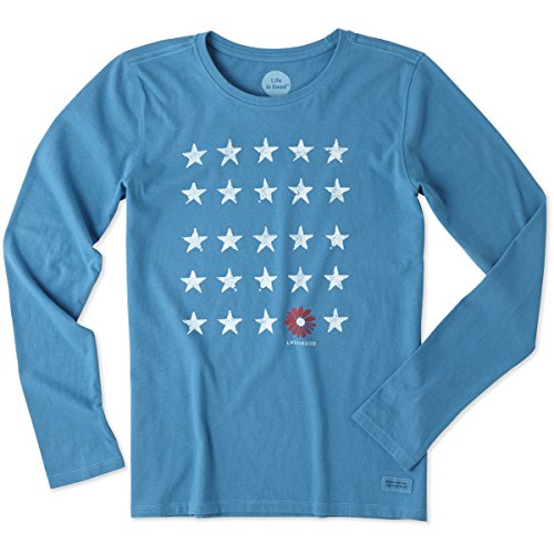 life-is-good-womens-crusher-longsleeve-stars-and-daisy-t-shirt-denim-bluelarge