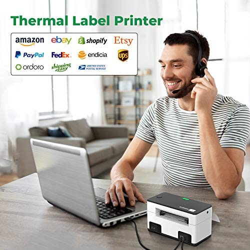MUNBYN Thermal Label Printer 4×6, High-Speed 150mm/s Direct USB Thermal Barcode 4×6 Shipping Label Printer Maker Writer Machine, One Click Set up,Compatible with Ebay, Amazon, FedEx,UPS,Shopify,Etsy